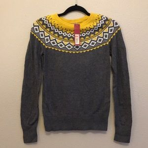 Yellow and Gray Sweater